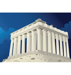 Parthenon in Athens Greece vector image