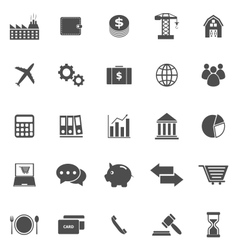 Economy icons on white background vector