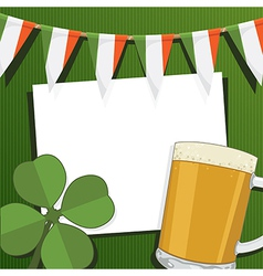 Irish party card vector