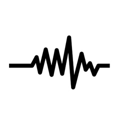Monochrome heart beat monitor pulse line vector