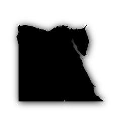 Map of egypt with shadow vector