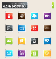 E-commerce bookmark icons vector