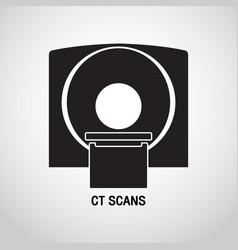 Ct scans medical logo icon design vector