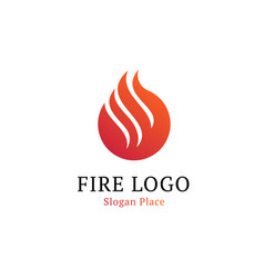 hot kitchen logotype template wavy white line on vector image
