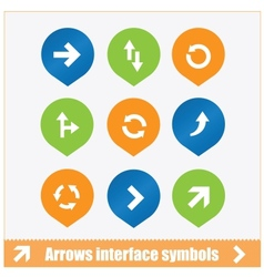Arrows interface symbols set vector