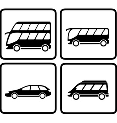 Set passenger transport icon vector