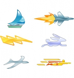 Speed design elements vector