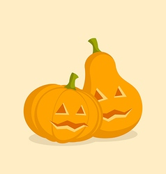 Couple pumpkins for halloween vector