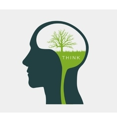Think about the environment green light vector