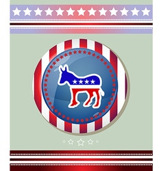 Usa democratic party donkey symbol banner vector