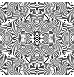 Optical art abstract star seamless deco pattern vector