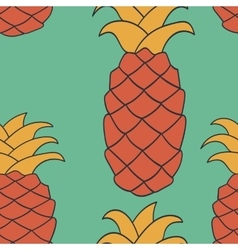 Seamless pineapple pattern endless repeated vector