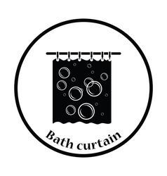 Bath curtain icon vector