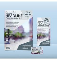 Gray brochure flyer and card design vector