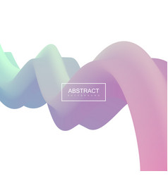 abstract 3d pastel stripe vector image vector image