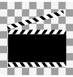 art Film clapper board icon vector image vector image