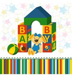 baby blocks toys vector image vector image