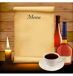 background with menu vector image vector image