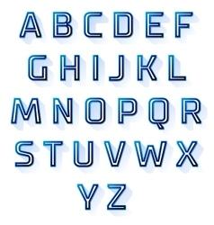 Blue font design set vector