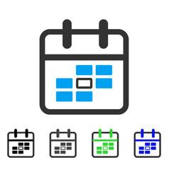Calendar date flat icon vector