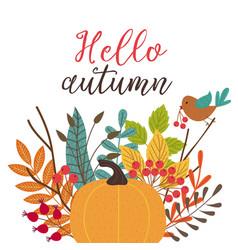 card hello autumn vector image vector image