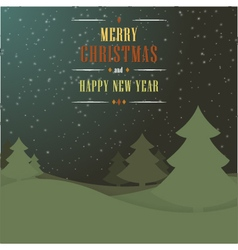 Christmas background with tree vector image vector image