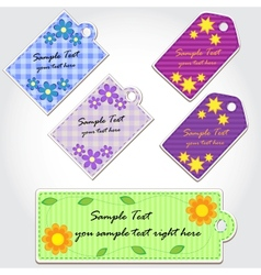 Colorful tags for scrapbook vector image