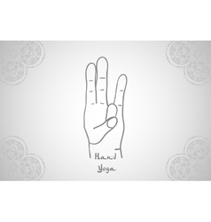 Element yoga Surya mudra hands vector image