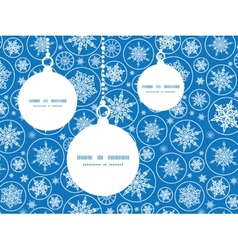 Falling snowflakes christmas ornaments silhouettes vector