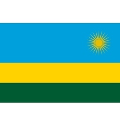 Flag of Rwanda in correct proportions and colors vector image