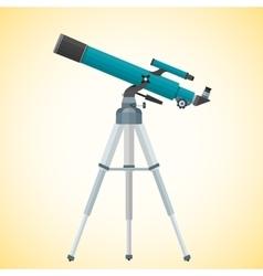 Flat refracting telescope vector