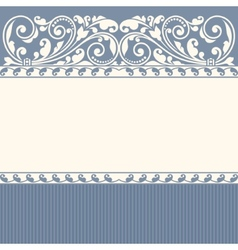 Floral pattern for invitation or greeting card vector image