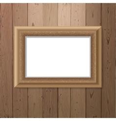 Frame over wooden background vector