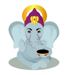Ganesha cartoon vector