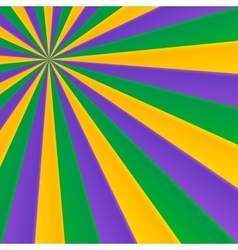 Green yellow and violet rays carnival background vector