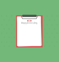 Greeting card doctor day style collection vector