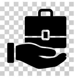 Hand holding case icon vector