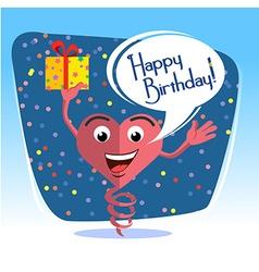 Happy birthday card jumps 2 vector image vector image