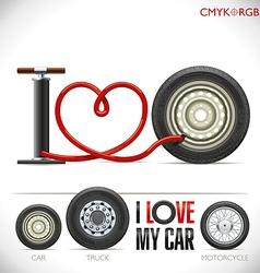 I Love My Car vector image vector image