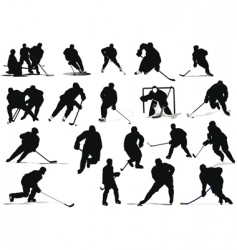 ice hockey players vector image