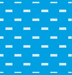 little crown pattern seamless blue vector image vector image