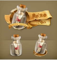 Message in bottle icon vector image