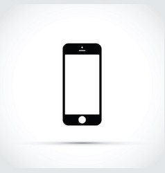 mobile phone cell phone icon vector image vector image