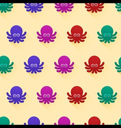 octopus pattern vector image vector image