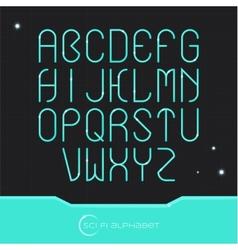 Sci Fi Alphabet vector image