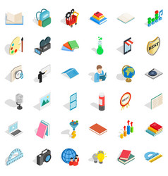 Studying icons set isometric style vector