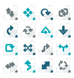 Stylized different kind of arrows icons vector
