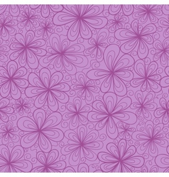 Stylized doodle flowers vector image vector image