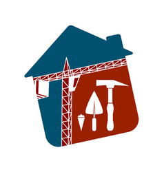 Symbol for the construction business vector