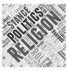 The role of religion in presidential politics word vector